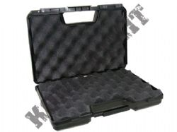 Hand Gun Carry Case Hard Black Lined Lockable 29cm x 18.5cm x 7cm